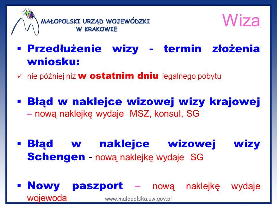 Wiza Przedłużenie wizy - termin złożenia wniosku: