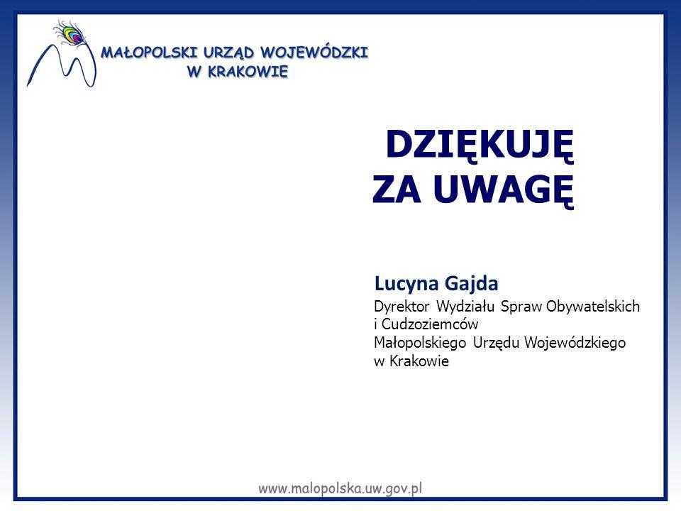 DZIĘKUJĘ ZA UWAGĘ Lucyna Gajda