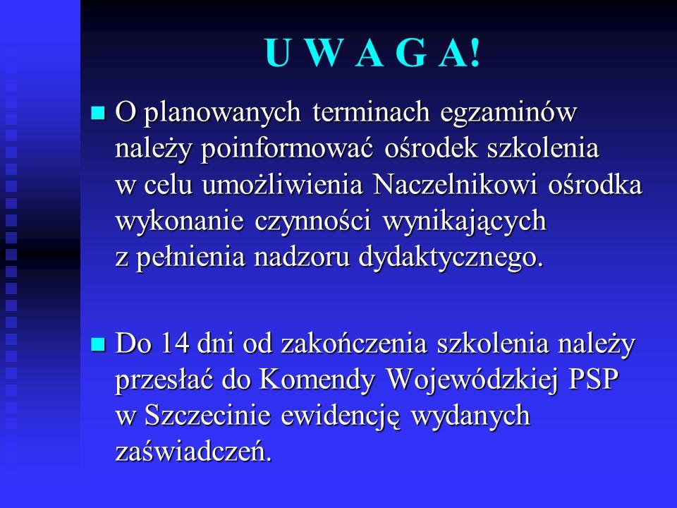 U W A G A!