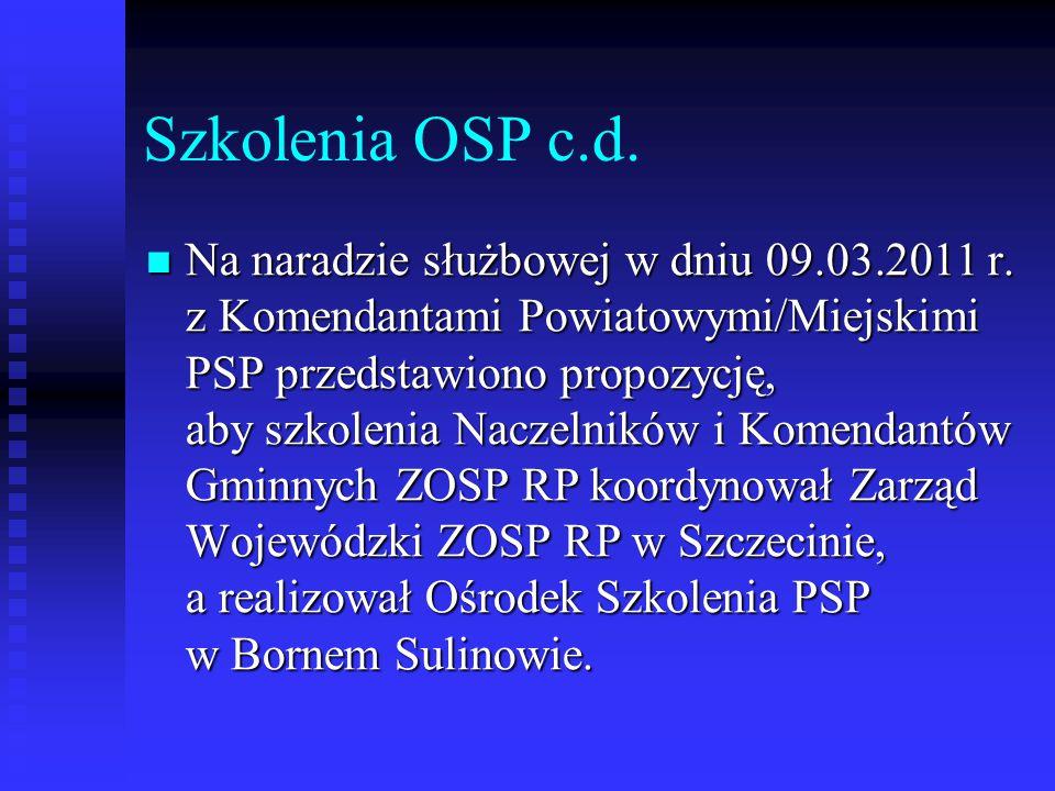 Szkolenia OSP c.d.