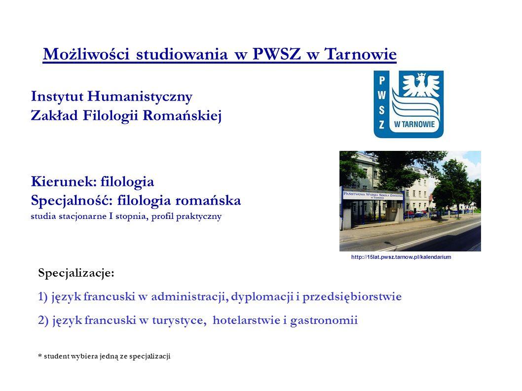 Możliwości studiowania w PWSZ w Tarnowie