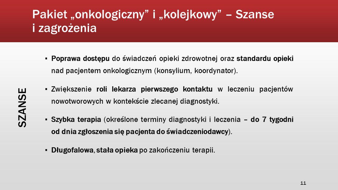 """Pakiet """"onkologiczny i """"kolejkowy – Szanse i zagrożenia"""