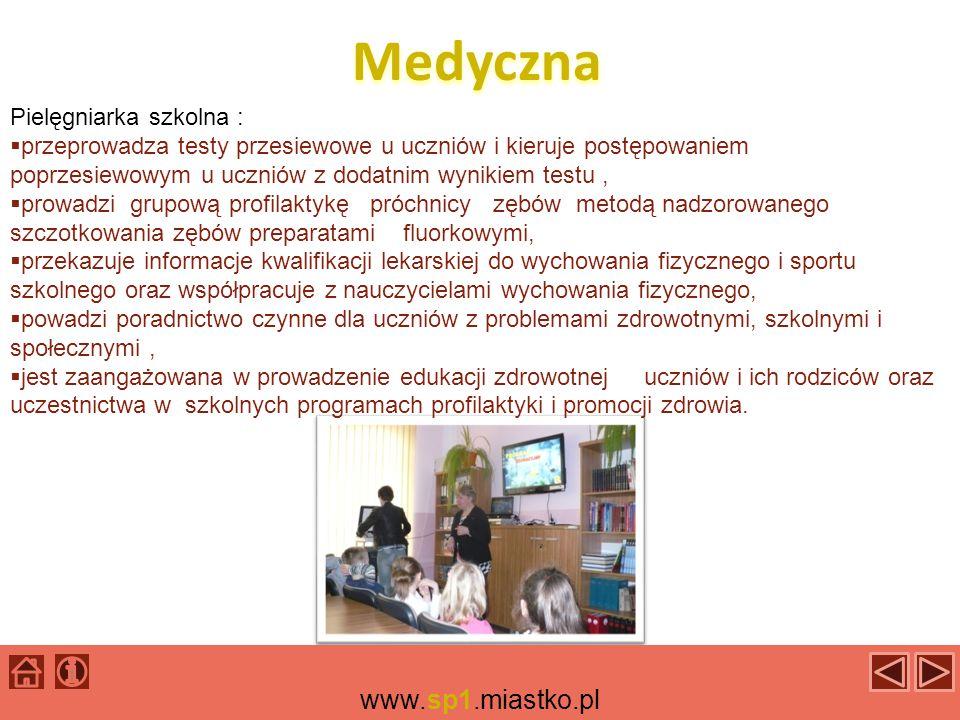 Medyczna www.sp1.miastko.pl Pielęgniarka szkolna :