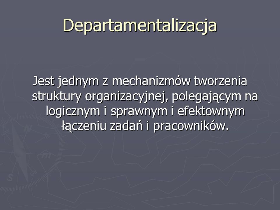 Departamentalizacja