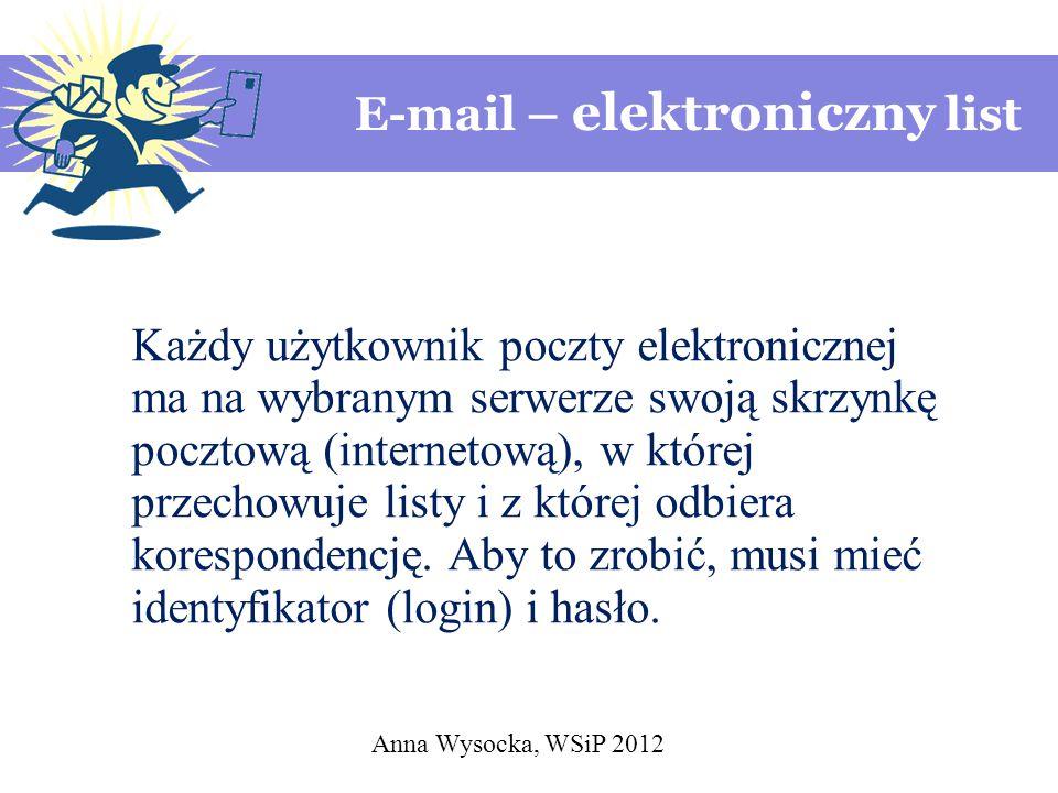E-mail – elektroniczny list