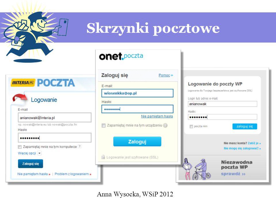 Skrzynki pocztowe Anna Wysocka, WSiP 2012