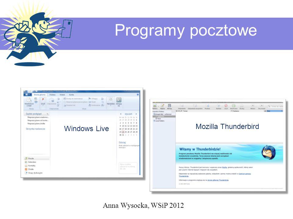Programy pocztowe Mozilla Thunderbird Windows Live