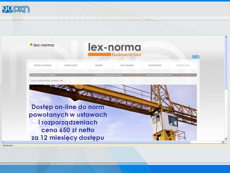 Dostęp on-line do norm powołanych w ustawach i rozporządzeniach