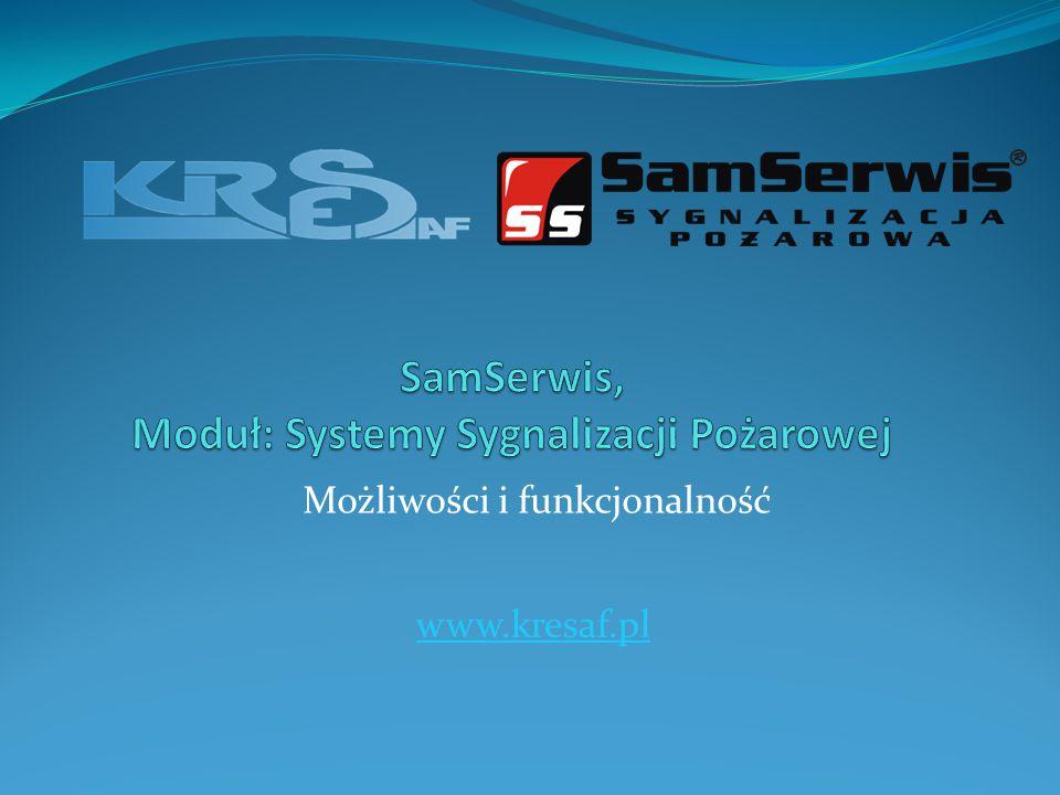 SamSerwis, Moduł: Systemy Sygnalizacji Pożarowej