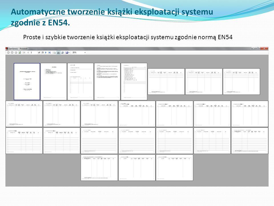 Automatyczne tworzenie książki eksploatacji systemu zgodnie z EN54.