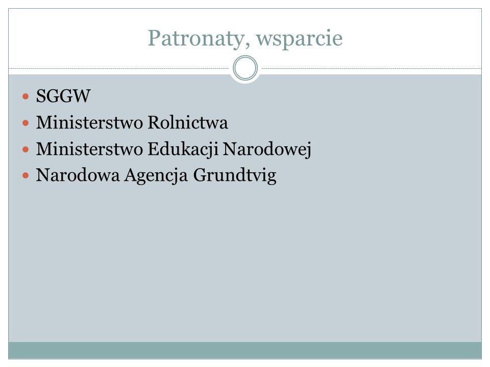 Patronaty, wsparcie SGGW Ministerstwo Rolnictwa