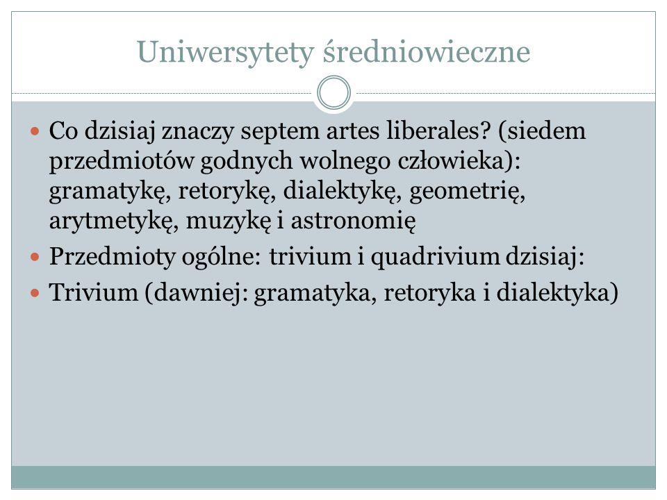 Uniwersytety średniowieczne