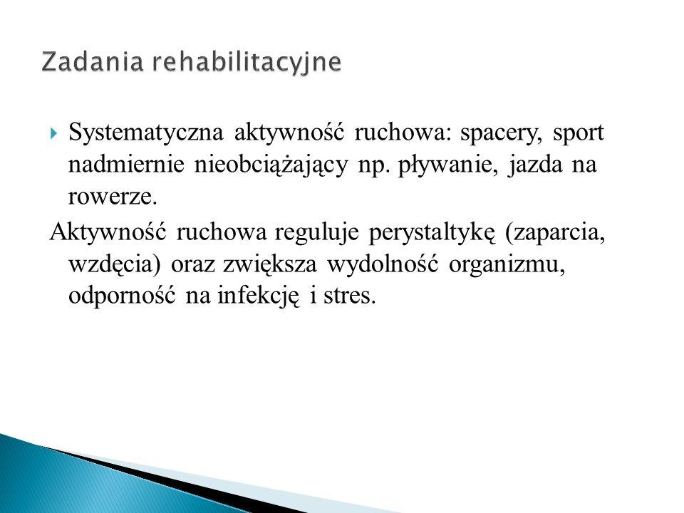 Zadania rehabilitacyjne