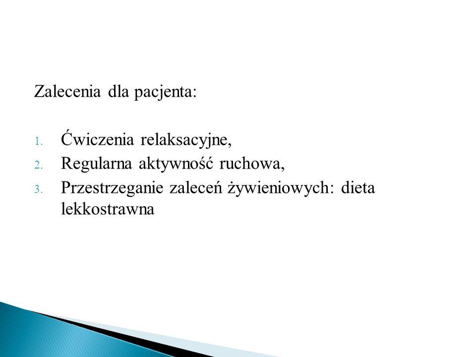 Zalecenia dla pacjenta: