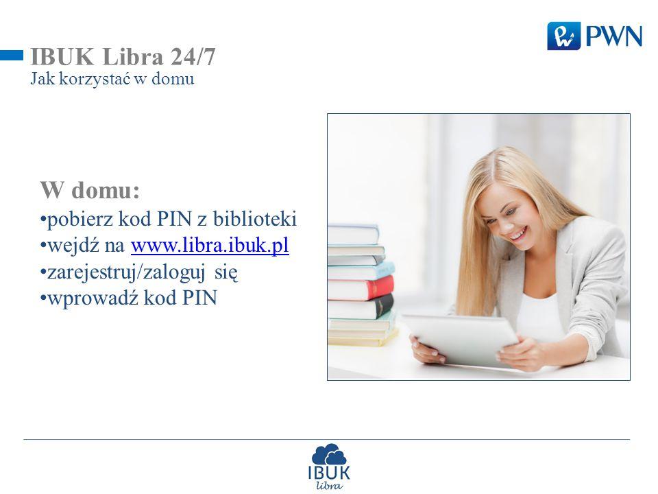 IBUK Libra 24/7 W domu: pobierz kod PIN z biblioteki