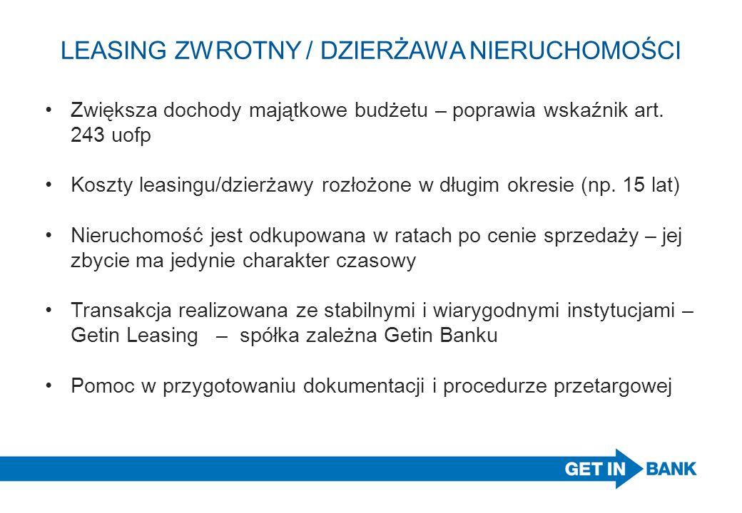 LEASING ZWROTNY / DZIERŻAWA NIERUCHOMOŚCI