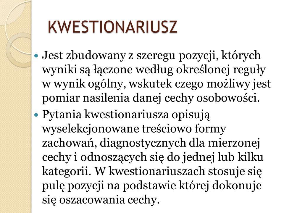 KWESTIONARIUSZ