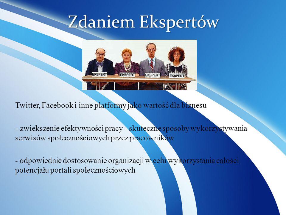 Zdaniem Ekspertów Twitter, Facebook i inne platformy jako wartość dla biznesu.