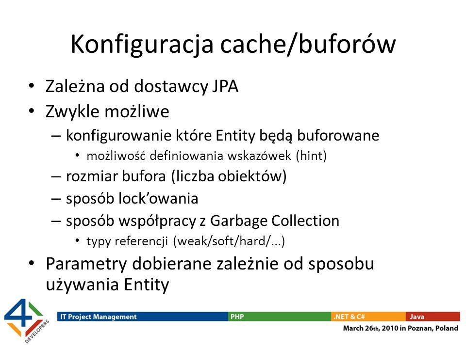 Konfiguracja cache/buforów