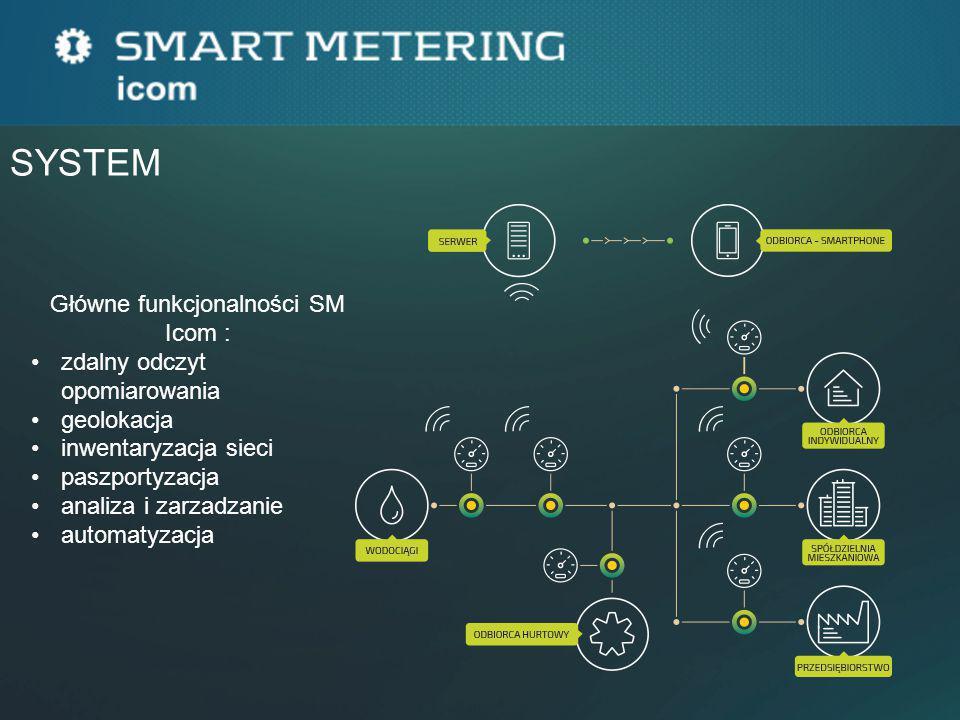 Główne funkcjonalności SM Icom :