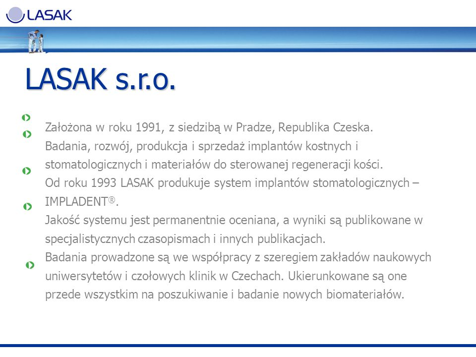 LASAK s.r.o. Założona w roku 1991, z siedzibą w Pradze, Republika Czeska.