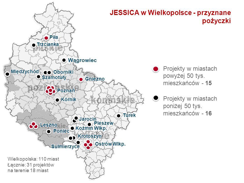 JESSICA w Wielkopolsce - przyznane pożyczki