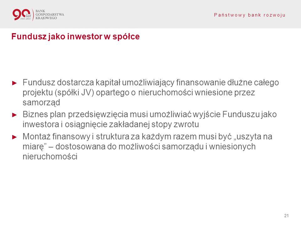Fundusz jako inwestor w spółce
