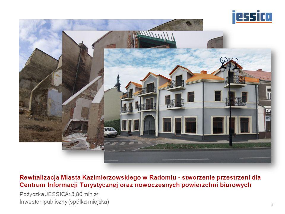 Rewitalizacja Miasta Kazimierzowskiego w Radomiu - stworzenie przestrzeni dla Centrum Informacji Turystycznej oraz nowoczesnych powierzchni biurowych