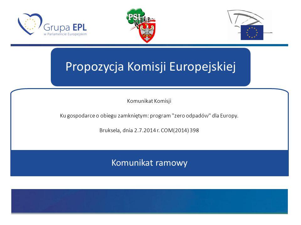 Propozycja Komisji Europejskiej