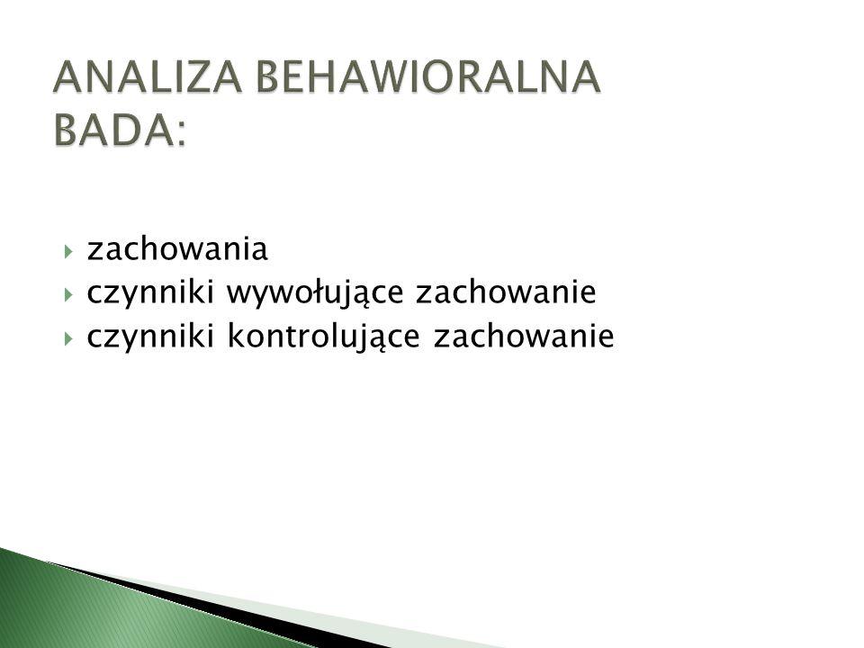 ANALIZA BEHAWIORALNA BADA: