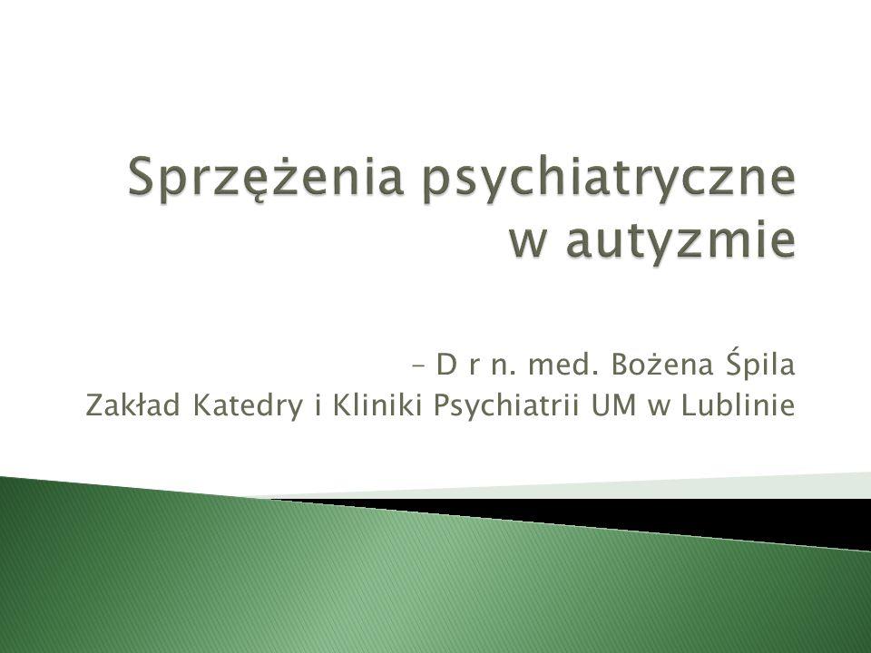 Sprzężenia psychiatryczne w autyzmie