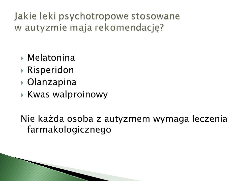 Jakie leki psychotropowe stosowane w autyzmie maja rekomendację