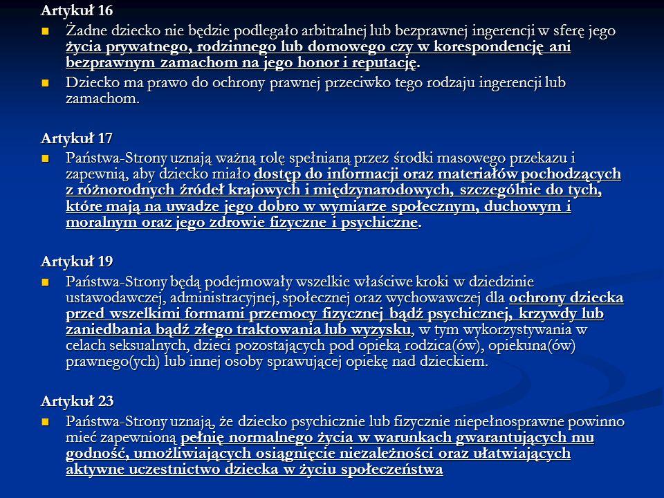 Artykuł 16