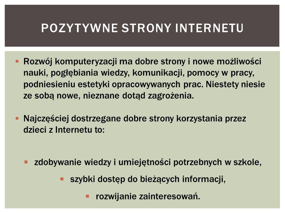 Pozytywne strony internetu