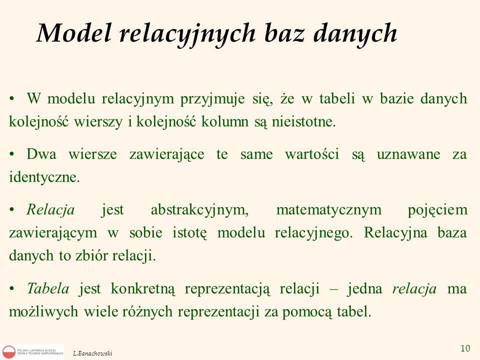 Model relacyjnych baz danych
