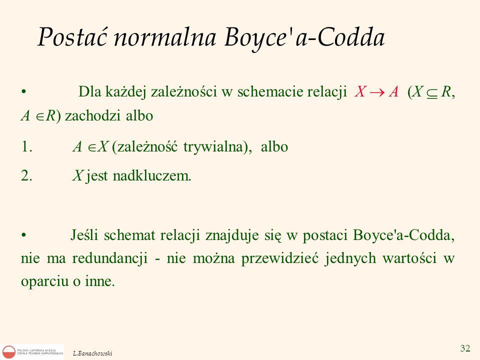 Postać normalna Boyce a-Codda
