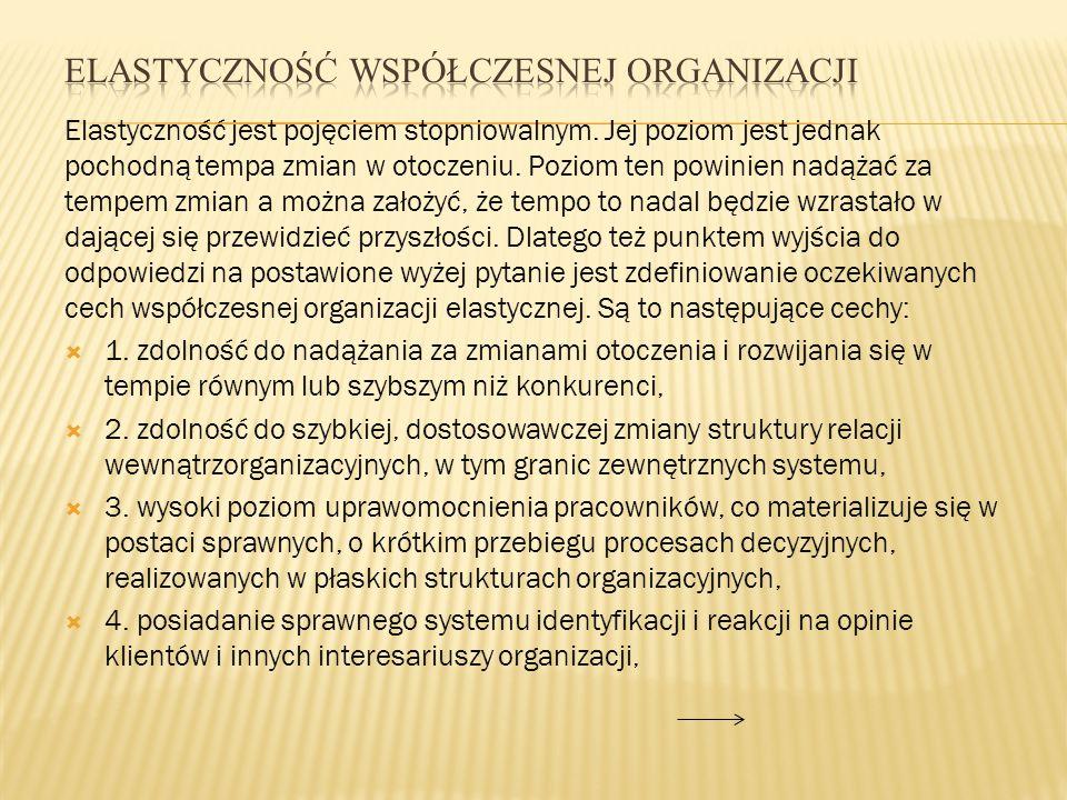 Elastyczność współczesnej organizacji