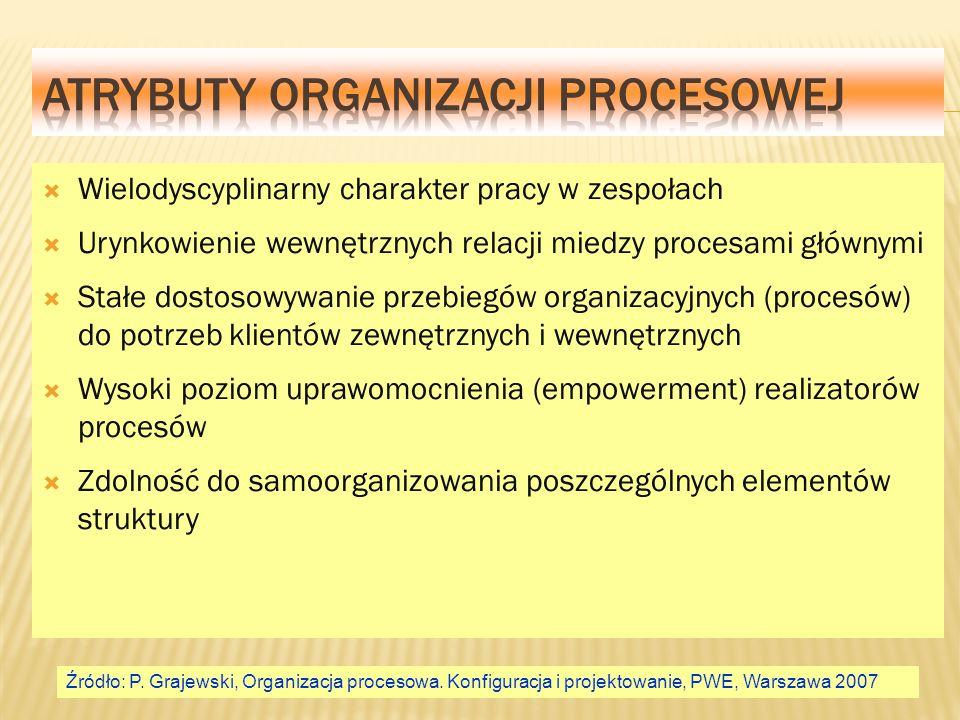 Atrybuty organizacji procesowej