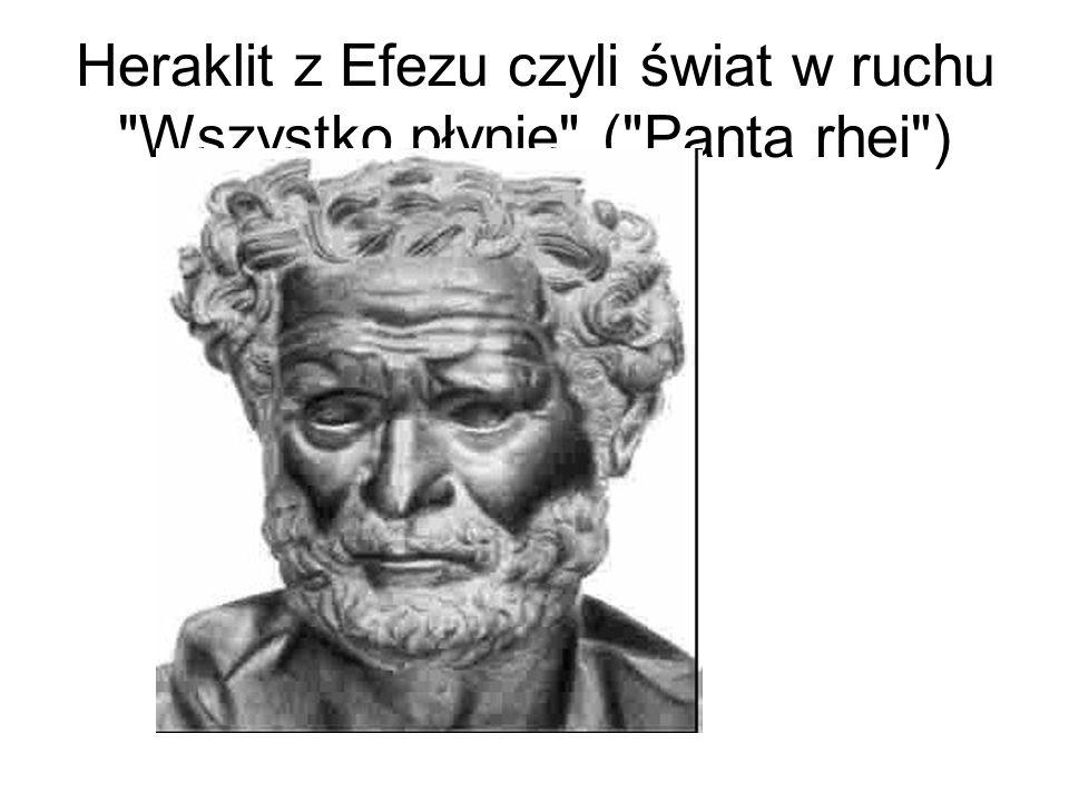 Heraklit z Efezu czyli świat w ruchu Wszystko płynie ( Panta rhei )