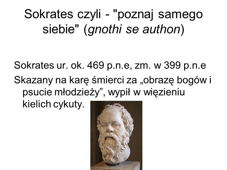 Sokrates czyli - poznaj samego siebie (gnothi se authon)