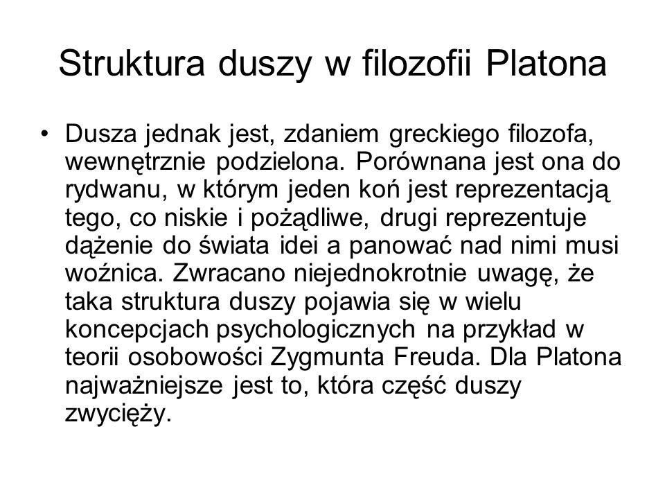 Struktura duszy w filozofii Platona