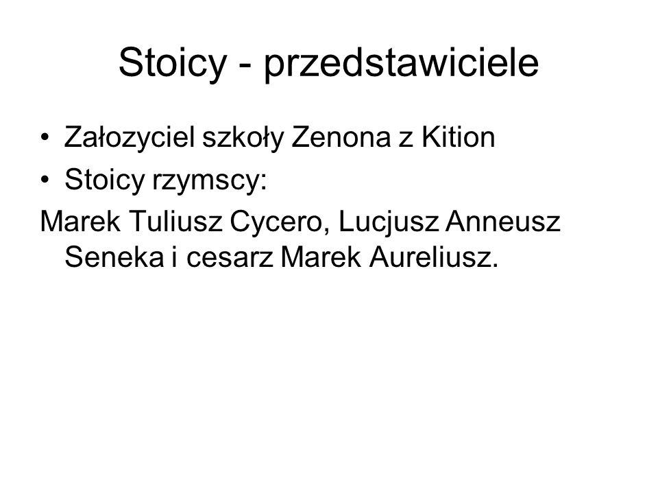 Stoicy - przedstawiciele