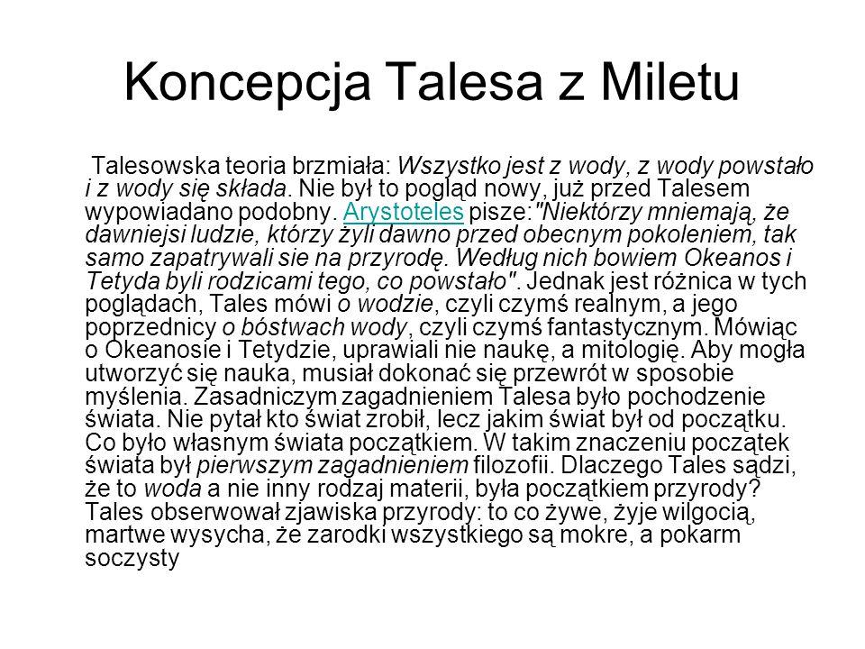 Koncepcja Talesa z Miletu
