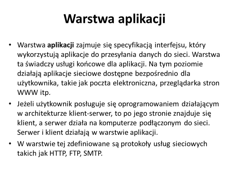 Warstwa aplikacji