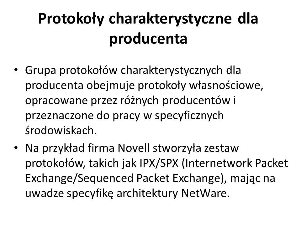 Protokoły charakterystyczne dla producenta