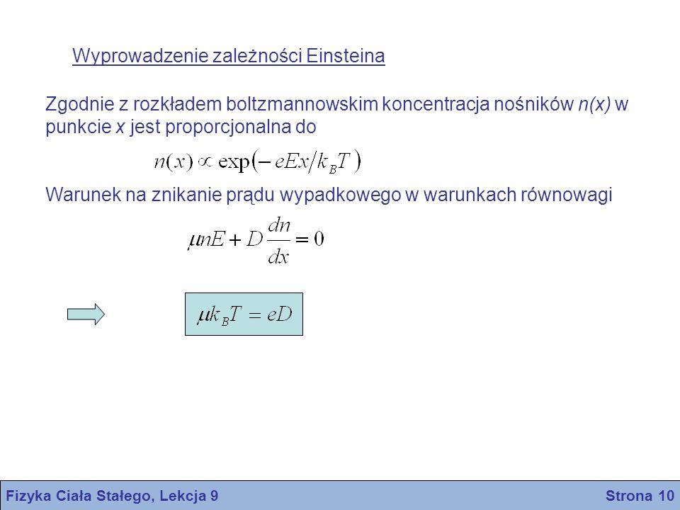 Fizyka Ciała Stałego, Lekcja 9 Strona 10