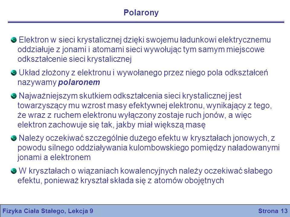 Fizyka Ciała Stałego, Lekcja 9 Strona 13