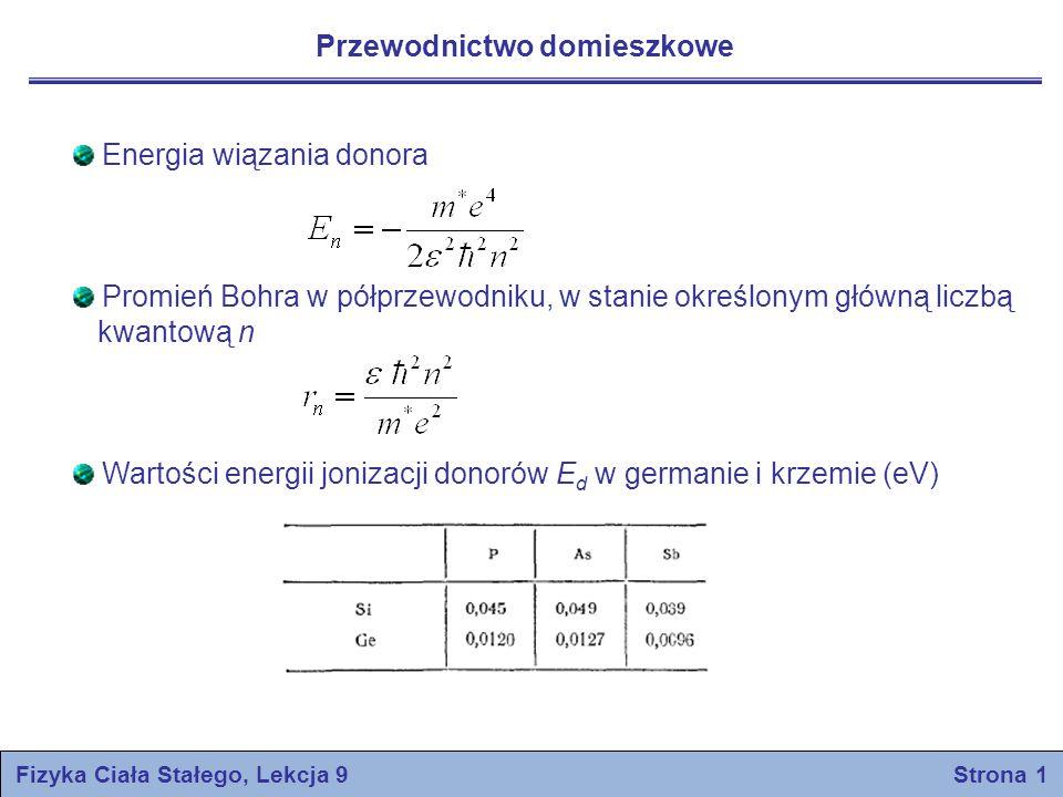 Fizyka Ciała Stałego, Lekcja 9 Strona 1