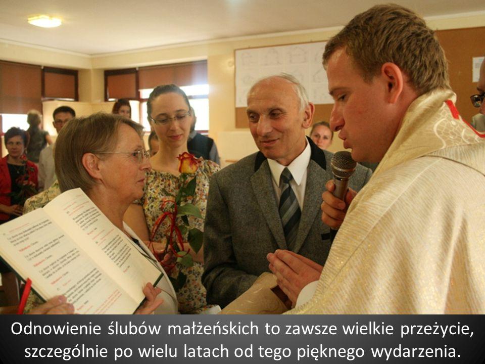 Odnowienie ślubów małżeńskich to zawsze wielkie przeżycie, szczególnie po wielu latach od tego pięknego wydarzenia.