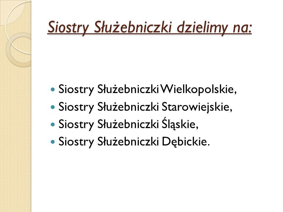 Siostry Służebniczki dzielimy na: